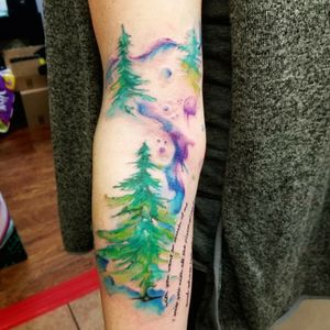 Watercolor trees a tribite to pnw