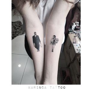 Leon & Mathilda 🔫🥛 Instagram: @karincatattoo  #leon #mathilda #LeonTheProfessional #jeanreno #natalieportman #tattoo #tattoos #tattoodesign #tattooartist #tattooer #tattoostudio #tattoolove #tattooart #istanbul #turkey #dövme #dövmeci #design #girl #woman #arm #black #film #movie #cool