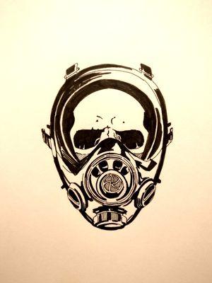 #skull #gasmask