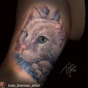 Kitty #portraittattoo #realism