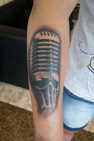 #mic #skull #music #microfono #calavera #musica