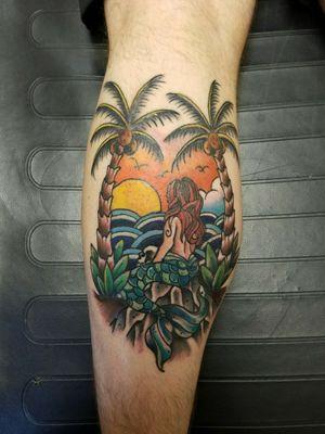 #tattoooftheday #colortattoo #mermaidtattoo #neotraditionaltattoo #beachtattoo