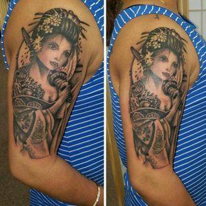 #geishatattoo #tattoodo #blackngreytattoo #blackngreytattoos @alaskatattoos
