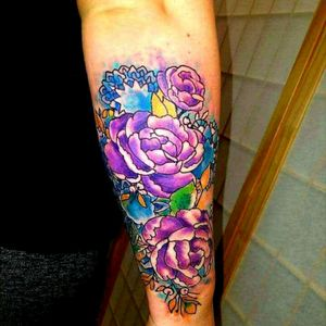 #watercolortattoo #inkjunkeyz #tattoodo #tam #tatsoul #tattooedchicks #girlswithink @alaskatattoos