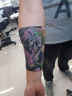 Killing joke tattoo! #joker #dccomics #jokertattoo #comictattoo #popculture