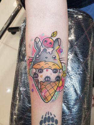 Kawaii totoro ice cream! #kawaiitattoo #cute #kawaii #totoro #tattoo #animetattoo #manga #kawaii #popculture
