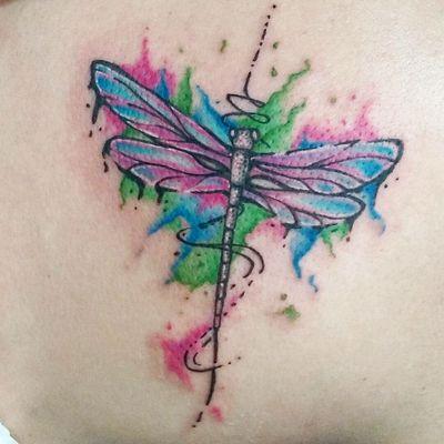 #tattoo #tattoos #ink #inled #inkedgirls #dragonfly #dragonflytattoo #anisoptera #coloredtattoo #worldfamousink #cheyenneprofessionaltattooequipment #cheyenne #noregretstattoo #DAlexanderTattoo