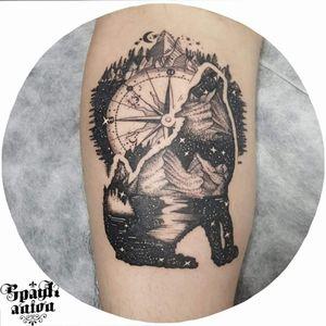 #tattoo #tattoos #inked #tattooed #art #sleevetattoo #tatted #instatattoo #bodyart #tatts #amazingink #compasstattoo #wolftattoo #galaxytattoo #moontattoo #dotworkers #blackworkers #blxckink #txttoo #tatrrx #tttism #lineart #linetattoos #lineworktattoo #worldfamousink #ezpen #eternalink #contemporarytattoo #blackandwhitetattoo #dotworkers
