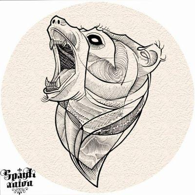 #tattoos #inked #inkmag #tattoosketch #tattoodesign #drawing #tattoodraw #sketchtattoo #linetattoo #lineworktattoo #bear #beartattoo #bearsketch #tattoodo #txttoo #tattism #tatrrx #blxckink #blackworkers #blacklinetattoo #tattoomag #inkedmag #animaltattoo