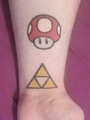 #Nintendo #nintendotattoo #mariobros #zelda #zeldatattoo #Triforce #triforcetattoo