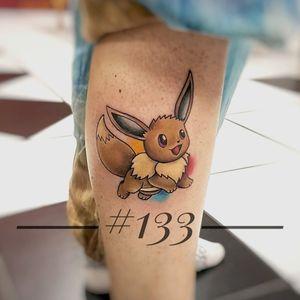 cute little eevee #gottotatthemall #pokemon #pokemontattoo #colortattoo #worldfamousink #THESOLIDINK #SOLIDINK #fusiontattooink #tattooapprentice #tattooart #gen1 #vgta2 #gamerink #cartoon #gamer.ink #epicgamerink #cartoontattoo #nerdytattoos