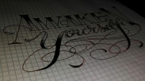 Sketching up #lettering