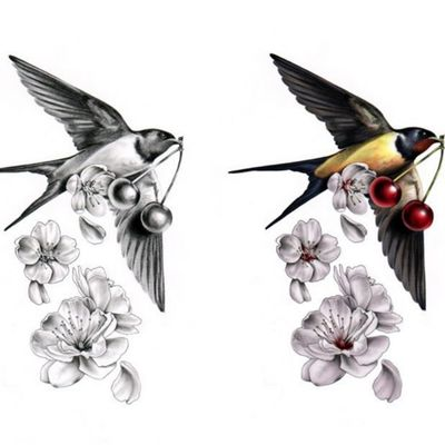#Swallow #bird #cherry