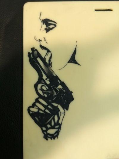 #trainingtattoo #womantattoo #woman #gun #guntattoo
