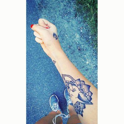 Tattoo #tatttoos #3 #small #bigcat #smalltattoos #love