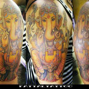 #tattooart #tattooganesh #tattoohindu #tattoodelicada #tattoocolors