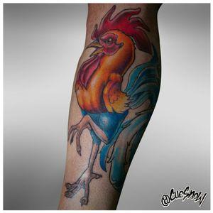 Freehanded rooster, WIP IG: @cuesnow