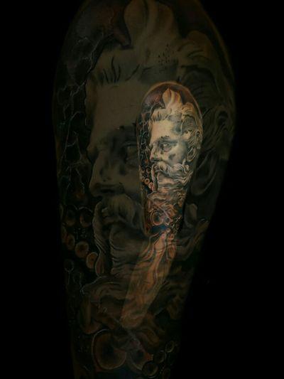 #poseidon #neptune #blackandgrey #tattooftheday #inkedworld #healedtattoo #malditoduendetattoo