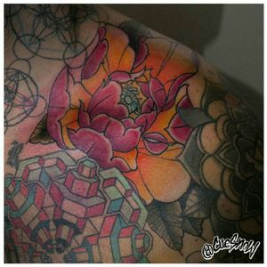Peony Dessign and tattoo by me