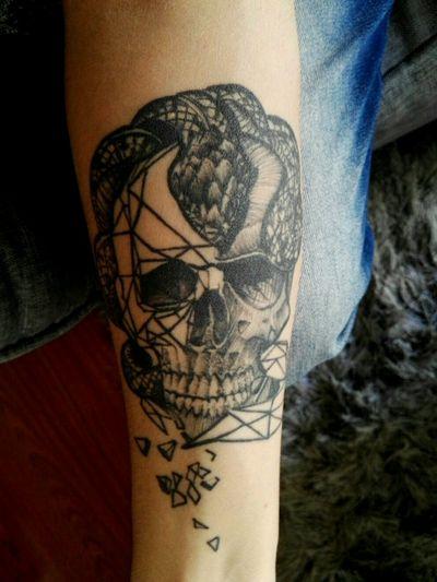 #skulltattoo #skull #DarkArt #snaketattoo #voldemort