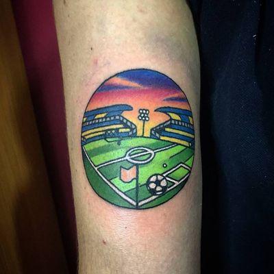 • ⚽ • #soccertattoo #soccer #soccers #football #tattoo #tattoos #oldschooltattoos #oldschooltattoo #oldschool