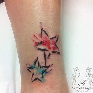 Splash stars/tatuaj stele watercolor #watercolortattoo  #tatuaje #tattoo ##tatuajebucuresti #StarsTattoo  #salontatuajebucuresti  #salontatuaje #tatuajefete  #tatuajemici www.tatuajbucuresti.ro