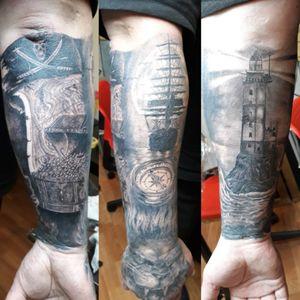 Pirate theme...#vitaltattoes #tattooart #inked #piratetattoo