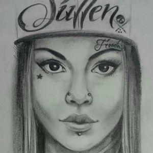 #girl #tattomodel #realism #portait #tattoedgirl
