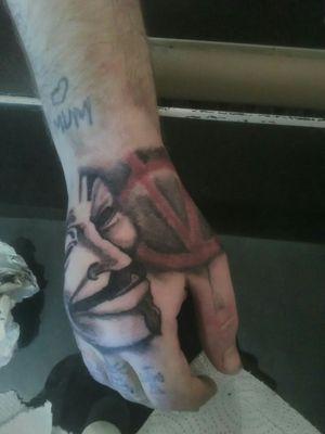 V for vendetta hand tattoo