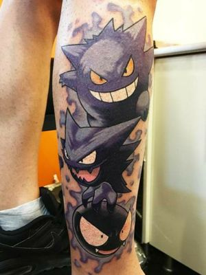 Gastly Evolution Line by @cagatay.ates #pokemontattoo #ghost