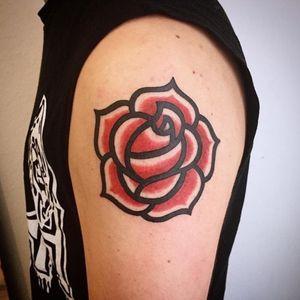 Rose tattoo (flash) - Shekenz, private studio, Brussels