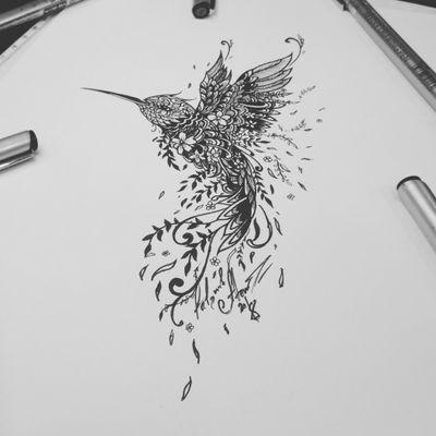Тату эскиз колибри. Эскиз нарисован лайнерами Superior и Micron, за 2.5 часа. Мастер тату Вадим. Студия художественной татуировки и пирсинга Evolution. www.evotattoo.ru. Тел./WhatsApp: 8(925)5143553. #tattoo #hummingbird #birds #flowers #art #beauty #tattoo_studio #evolution #тату #тату_эскизы #тату_колибри #татуировки #колибри #заказть_эскиз #эскизы_на_заказ #иллюстрации #художники @tat2atom
