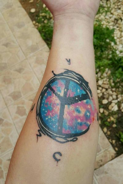 #yellow_claw #peace #space #ycnd #firsttattoo