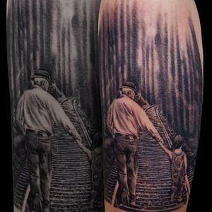 Grandfather tattoo 👴👦done in @etniastattoo#tattoobng #bngsociety #bng #tattoorealistic #realistictattoo #thebesttattooartists#tattooed #tattoospain #tattooeuropa #tattooengland #tattoomagazine #tattoogermany #tattooukraine #tattoohealed #tatouagefrance #tatoaggioitaly #tattoodeutschland #tattooswitzerland #tattooportugal #thebestspaintattooartists @thebestspaintattooartists @realistic.ink