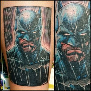 Batman #inkfusion #inkfusionempire #geektattoo #geekedouttattoos #geeksterink #geekytattoos #comicbooktattoo #nerdytattoos #nerdtattoo #nerdtattoos #bright_and_bold #traditionaltattoo #realtattoos #real_traditional #tattoos #tattooflash #neotraditional #solidtattoo #lasvegastattooer #dccomicstattoo #dccomics #batman #batmantattoo