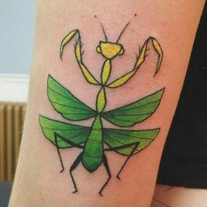 Cute mantis from apprentice Malinda at scarlet ink in Calgary ♥