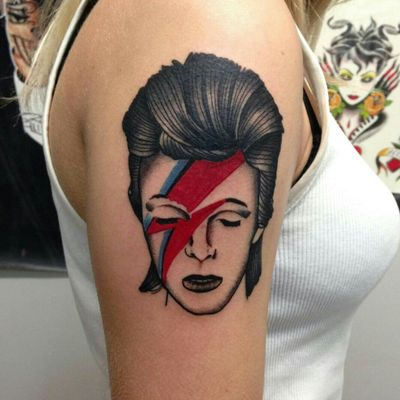 #davidbowie #Bowie #tatted #traditionaltattoo #traditionaltattoos #tattoooftheday