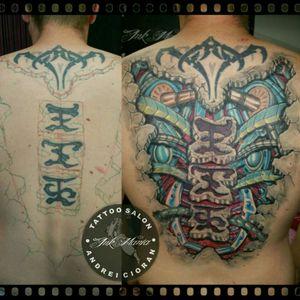 Biomechanic tattoo #biomechanicaltattoo #CoverUpTattoos