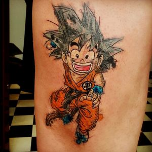Son Goku tattoo #dragonball #songoku #aquarelatattoo #colourtattoo #animetattoo
