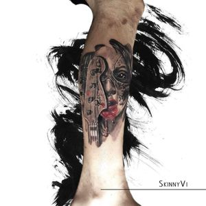 #portraittattoo #bassguitar #realism #RealismTattoos #realistic #bloody #blackandgreytattoo #blackandgrey #portait #bass #tattoo #tattooist #inked #inkedup