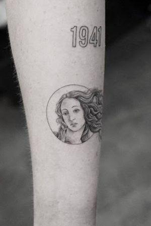 Birth of Venus inspired tattoo