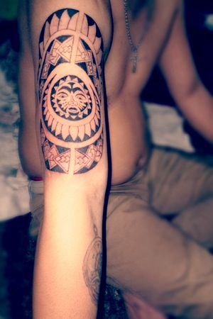 Polynesian tattoo #skinart #newbietattooartist #inked