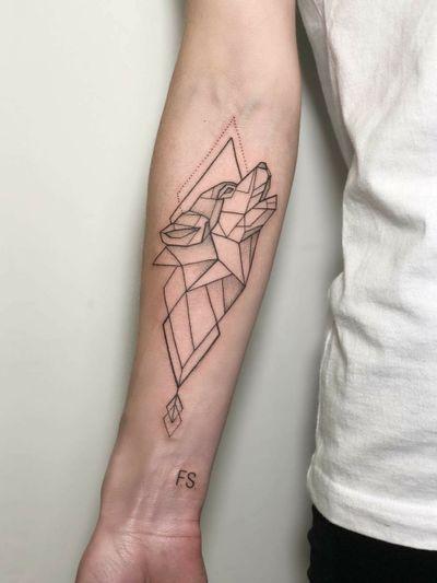 By #IraShmarinova #wolf #blackwork #inkwork #geometric