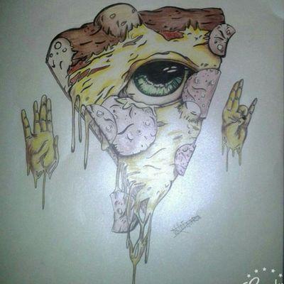#drawing #collors #pizza #illumunatieye