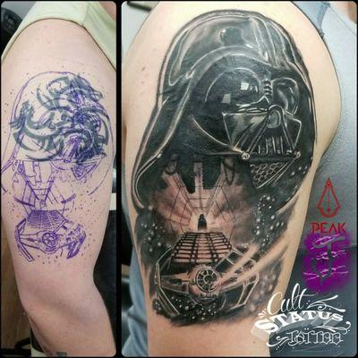 Cover-up Darth Vader #starwars #darthvader #coverup #tattoooftheday