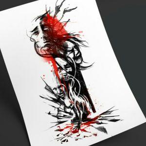Mental Illness initial idea #tattoodesign #artoftheday #mentalhealth #mentalhealthawareness #trashpolka #illustration #customtattoo