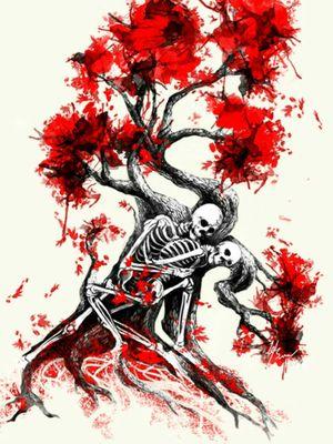 Tree of Life #customtattoo #tattoodesign #tattooapprentice #skeleton #skeletontattoo #tree #treeoflife #watercolor #watercolortattoo #blackwork