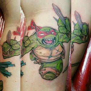 #heavybiggs #tattoooftheday #TMNTtattoo #colortattoo