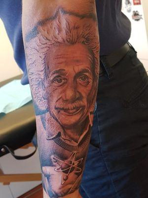 #einstein #tattooartist #tattooart #tattoobelgium #silverbackinkinstablack #cheyennethunder