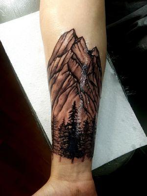 Colorado mountains #blackandgrey #Alaska #Alaskatattoos @Alaskatattoos.